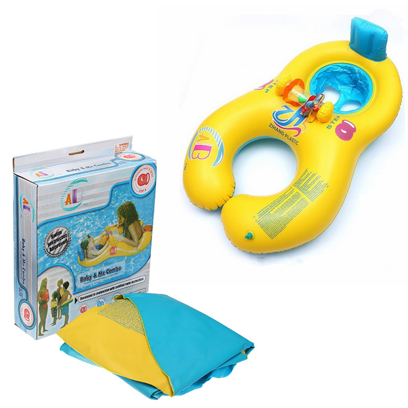 ABC Safe Inflatable Mother And Baby Swim Float Boat Raft Kid's Chair Seat Boat Play Pool Bath Swimming Float Ring