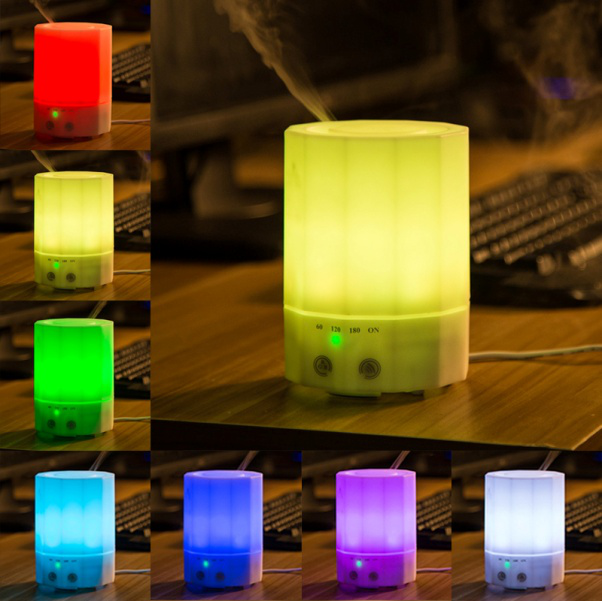 Bakeey RGB LED Night Light 200ml Portable USB Humidifier Air Purifier