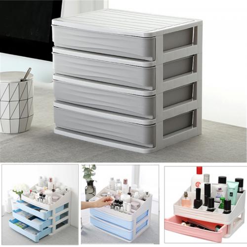 1/2/3/4 Tiers Multilayer Drawer Type Makeup Box Cosmetic Makeup Box Desktop Organizer Storage Box Display Box