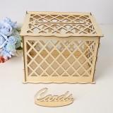 DIY Rustic Wooden Card Box Wedding Wishing Box Lock Gift Wedding Party Favor