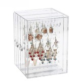 Dustproof Acrylic Earrings Jewelry Display Stand Shelf Jewelry Bag Storage Box Drawers Rack Holder Storage Case