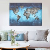 Retro World Map Canvas Paintings Print Picture Unframed Home Wall Mural Art Decor