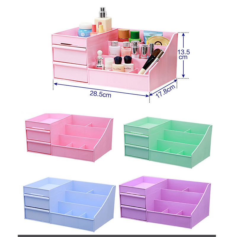 Large Capacity Cosmetic Organizer Storage Box Drawer Dressing Table Skin Care Rack House Container Sundries Makeup Organizer