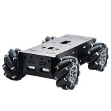 D-43 DIY Smart Metal RC Robot Car Chassis Base With 97mm Omni Wheels DC 12V Motor