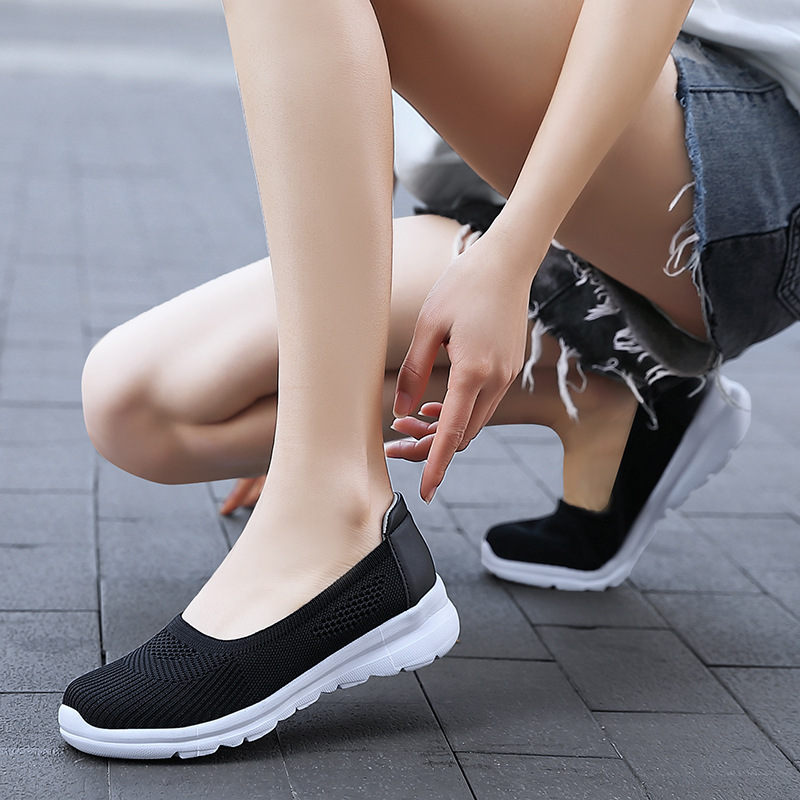 Women Mesh Breathable Slip On Soft Sole Athletic Casual Shoes Sneakers