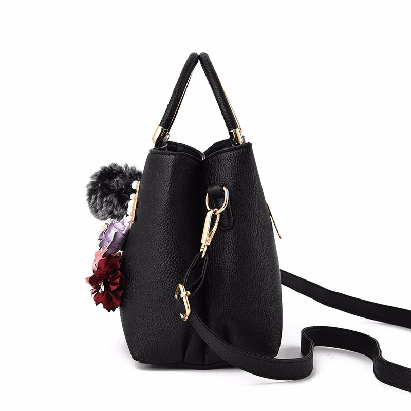 Womens Purses and Handbag Shoulder Bags Ladies Designer Top Handle Satchel Tote Bag with Ribbons and Flower Decoration