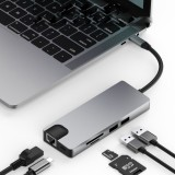 MATE 9 9 in 1 USB-C Data Hub with 2-Port USB 3.0 TF SD Card Reader USB-C PD Charging HDMI 4K Display VGA 3.5mm Audio Port for MacBooks Notebooks Phone