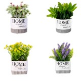 Artificial Potted Flower Wedding Party Birthday Valentine's Day Floral Decorations