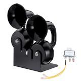Single Double Trumpet Snail Air Horn Electric Whistle 24V Black 126dB 130dB Alloy 24V For Car Trucks