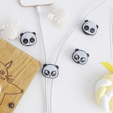 2Pcs Cute Mini Panda Pattern Multi-function Two-way Winding Desktop Tidy Management Cable Organizer Winder for iPhone X XS Huawei Xiaomi Mi9 S10 S10+ Data Cable and Mouse Headphone Wire
