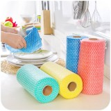 25 Pcs/Roll Non-woven Kitchen Cleaning Cloths Disposable Multi-functional Rags Wiping Scouring Pad Furniture Kitchenware Wash Towel Dishcloth
