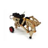 DIY STEAM RC Robot Walking Wooden Assembled Robot Toy Kit