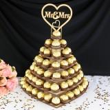 Personalised Chocolate Snack Display Mr&Mrs Heart Wedding Dessert Stand Shelf Rack Party Centrepiece