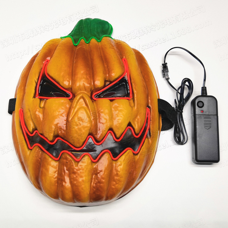 Halloween Mask Cosplay Masks LED Luminous Punpkin Masks For Halloween Party