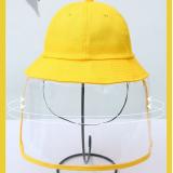 Anti-fog Hat Dustproof Bucket Hat Yellow for Boys and Girls Anti-Dust and Anti-Fog