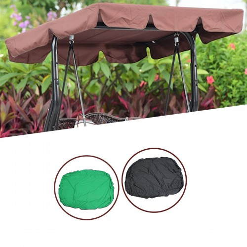 195x125cm Outdoor Swing Chair Hammock Canopy Waterproof Swing Chair Awning Top Cover Canopy Tent Sunshade