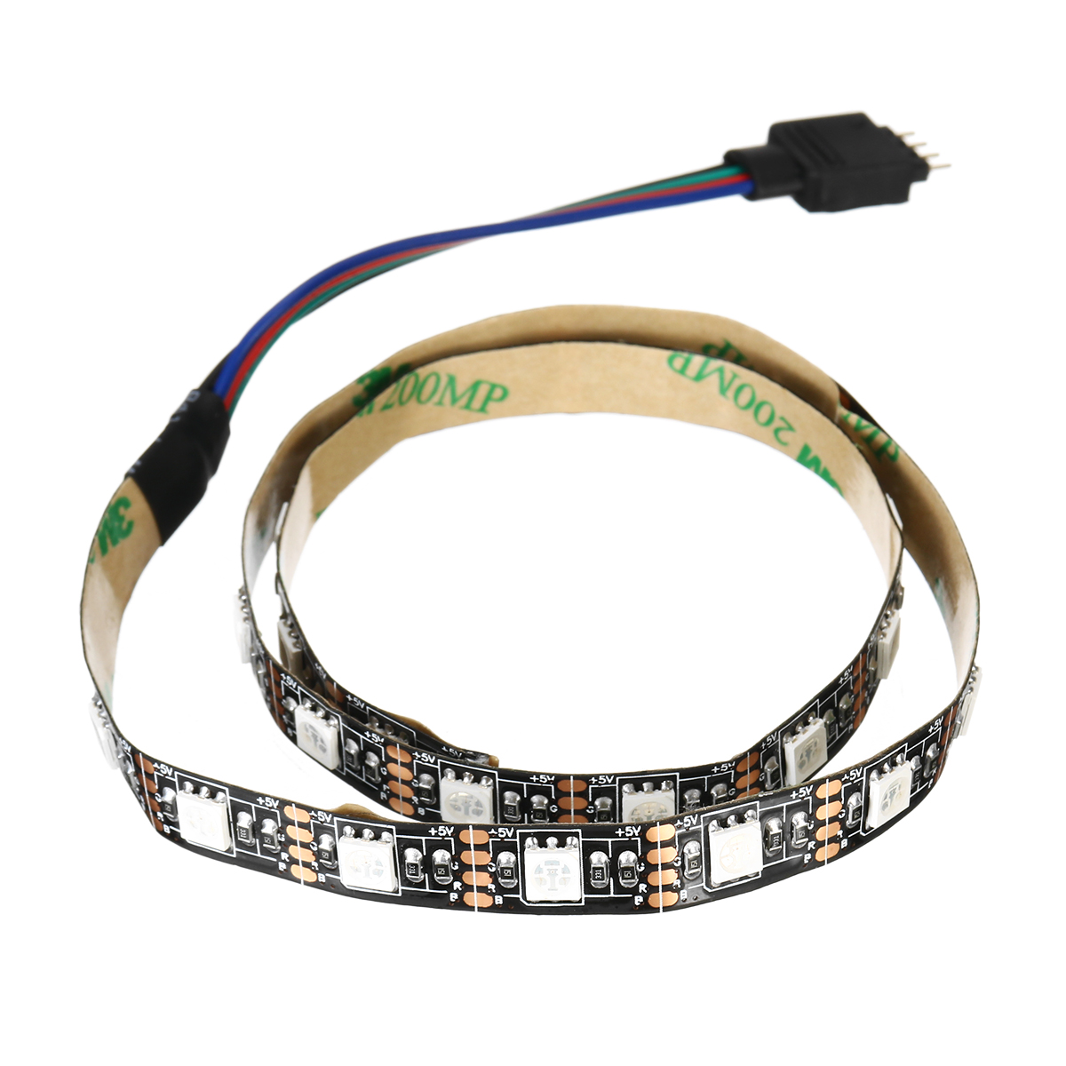 0.5/1/3/5M 5050 SMD RGB LED Strip Light Non-waterproof Indoor Lamp Home Decor + 44 Key Remote Control DC5V