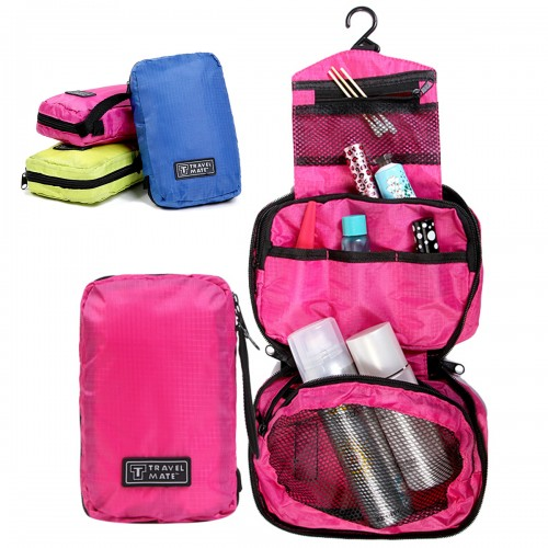 Portable Makeup Bag Cosmetic Make Up Case Storage Box Travel Pink Rose Red