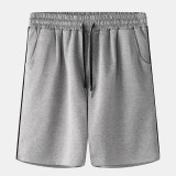 Men Sport Casual Sport Elastic Waist Drawstring Pocket Black Border Home Shorts