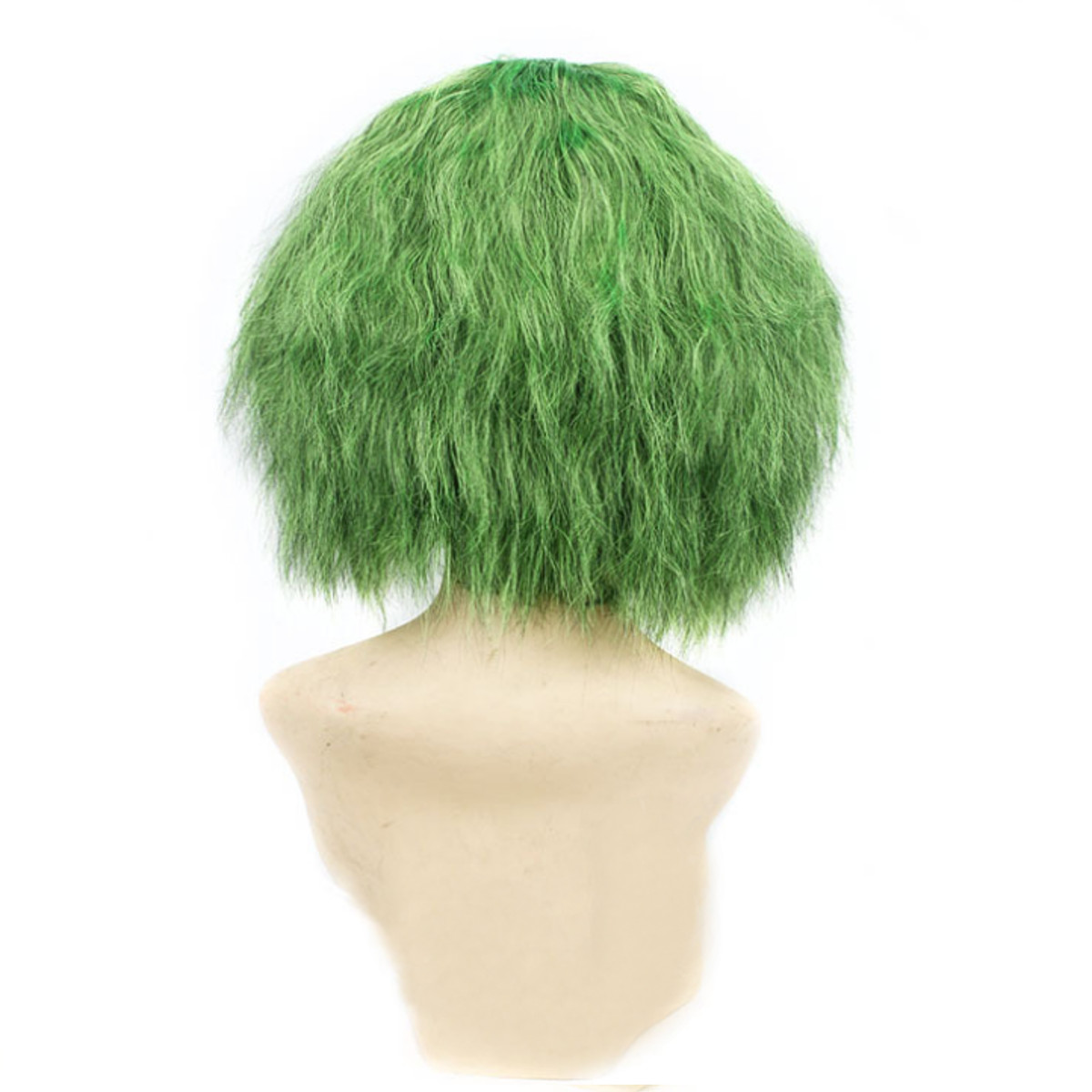 Costume Cosplay Green Curly Wig Clown Heat Synthetic Hair Men Wig+Wig Cap Props