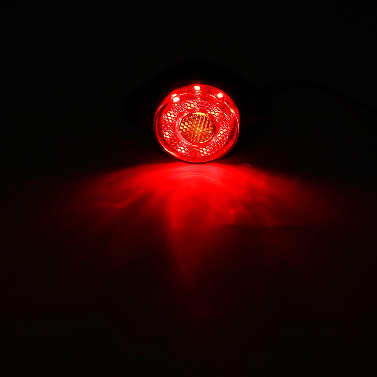 24V 8 LED Side Marker Lights Clearance Lamp Truck Trailer Bus Caravan Lorry Van