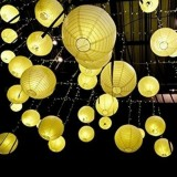 12/10/8/6 inch 20pcs White Paper Lanterns Chinese Japanese Round lampion for Wedding Party Decorations