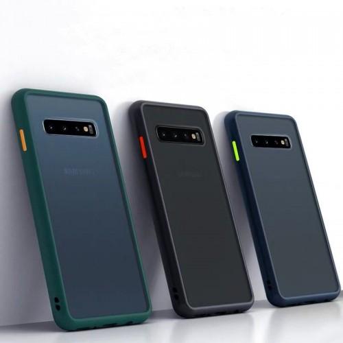 Bakeey Shockproof Anti-fingerprint Matte Translucent Hard PC&Soft TPU Edge Protective Case for Samsung Galaxy S10 2019