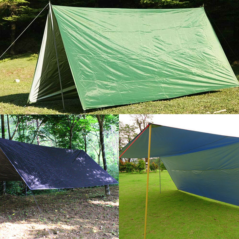 IPRee 160x200CM/300x300CM 210T Portable Lightweight Outdoor Awning Camping Tent Tarp Shelter Hammock Cover Waterproof Rain Tarp Shelter Tent Sunshade with Bag