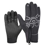 Wrist Winter Warm Windproof Fleece Lining Gloves Touch screen Full Finger Mountaineering Skiing Cycling Glove
