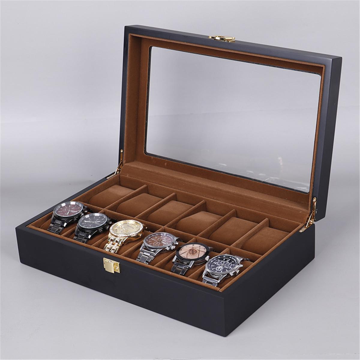 Bakeey 12 Slot Watch Box Watch Display Wood Jewelry Storage Organizer