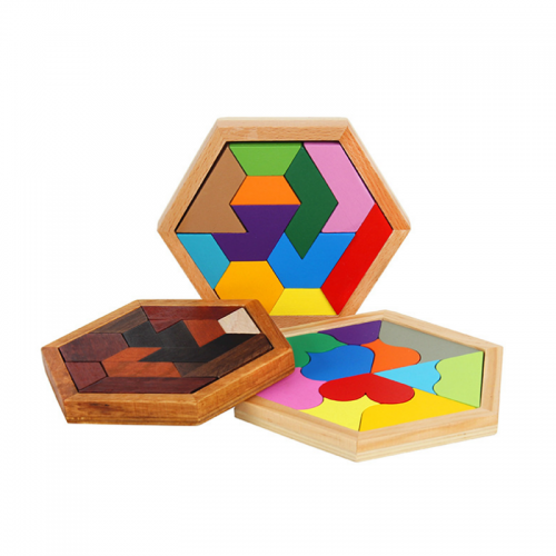 Wooden Board Puzzle Kids Educational Math Tangram Jigsaw Puzzle Toy Puzzles Game Toys for Adults Children