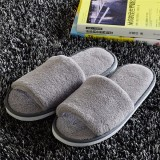 Women Suede Open Toe Hotel Disposable Slippers