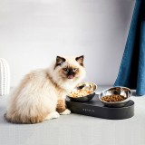 PETKIT stainless steel Double bowls FRESH Nano 15 Adjustable Double Feeder Bowls Water Cup Cat Bowls Drinking Bowl From Xiaomi Youpin Pet Bowl