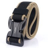 TUSHI 125cm Men Fashion Nylon Waist Belts With Automatic Magnetic Buckle Quick Unlock Tactical Belt Long Belt
