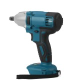 "18V 480N.m. Li-Ion Cordless Impact Wrench Driver 1/2"" Brushed Electric Wrench Replacement for Makita Battery"