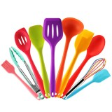 Silicone Heat Resistant Non-Stick Soft Grip Cooking Spoon Kitchen Utensils Tool Set