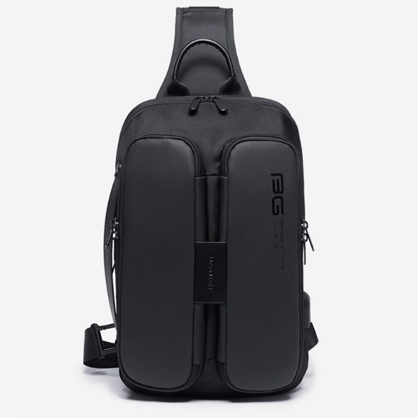 BANGE USB Charging Shoulder Bag Anti Theft Chest Bag Mens Travel Crossbody Bag Messengers Bag