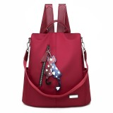 Women Anti-theft Backpack Light Weight Oxford School Backpack Travel Shoulder Bag
