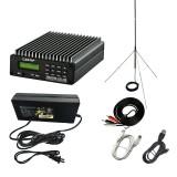 CZERF Stereo PLL FM Transmitter CZE-15B 0.3-15W Wireless Broadcast Radio Station Adjustable 87-108MHz PC Control Backlight AMP