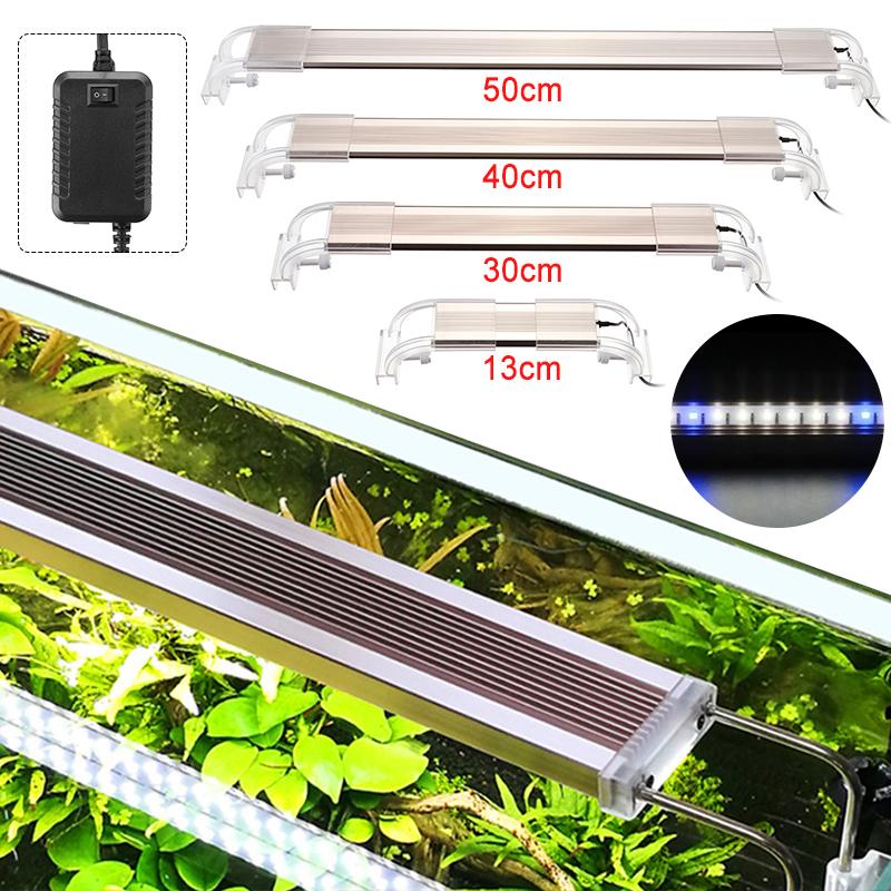 13/30/40/50cm Fish Tank Lamp LED Energy-Saving Blue+White Light Line Switch