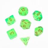 7Pcs/Set Polyhedral Dices for DND Dungeons & Dragons D20 D12 D10 D8 D6 D4 Desktop Games Dice + Black Velvet Pouch