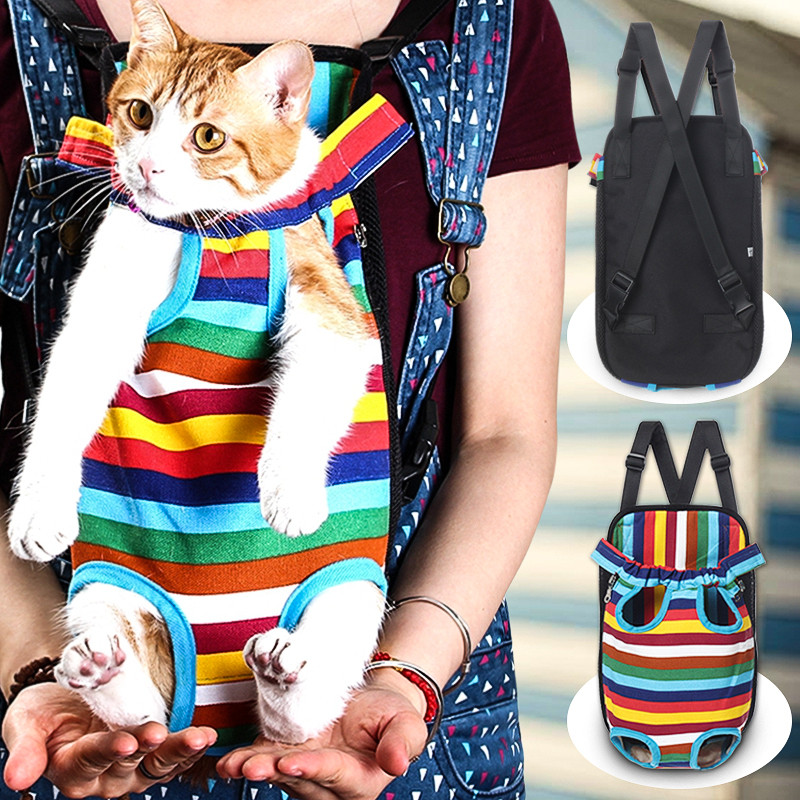 S-XL Size Adjustable Pet Puppy Dog Cat Net Canvas Backpack Front Tote Carrier Travel Shoulder Bag