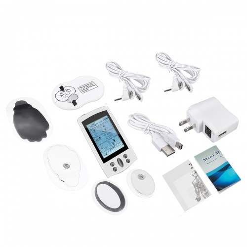 LCD Electric Massager 16 Modes Rechargeable Muscle Pulse Stimulator Pain Relief Therapy Device