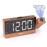 Digital Projection Alarm Clock LED Dual Alarm Radio Snooze FM Radio USB Charging