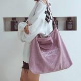 Large Women Handbag Shoulder Crossbody Bag Travel Shopping Tote Retro Corduroy