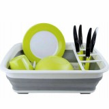 Foldable Dish Drain Rack Kitchen Desktop Storage Shelf Dish Spoon Chopsticks Fork Cup Holder Organizer