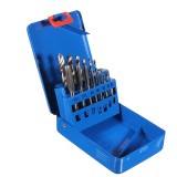 Drillpro 14PCS HSS Metric M3-M12 Screw Tap and Drill Set with Metal Case Combination Drill and Tap Set