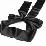 Sleeping Eye Mask Blindfold Mask Black Satin Bundled Hands Ribbon Silky Eye Mask Sleeping Eye Mask Eye Patch