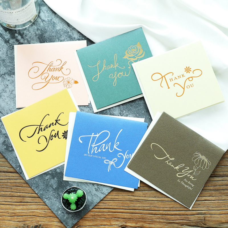1pcs paper thank you greeting cards gift decoration card