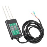 Soil Monitor Temperature and Humidity Sensor with Digital Display Temperature -30 to 70 and Humidity 0-24% Meter with Probe DC 6-12V